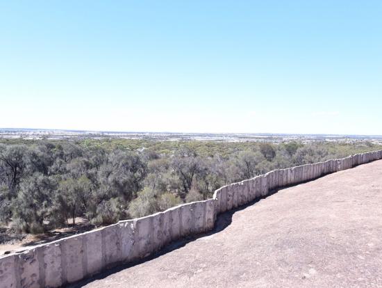ウェーブロックの上から見た景色