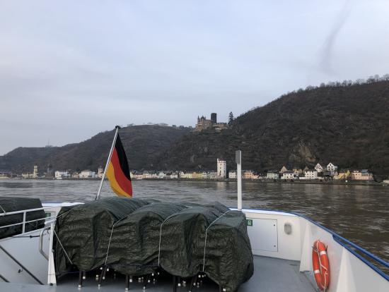クルーズ船の後方から撮影 この時期は寒かったです