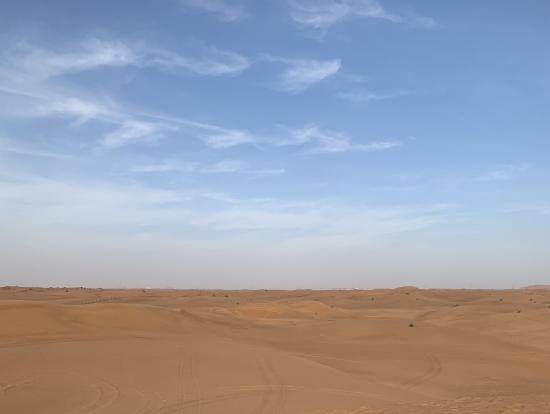 砂漠を背景に撮影タイム