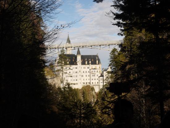 ぐるっとお城の周りを散策中。