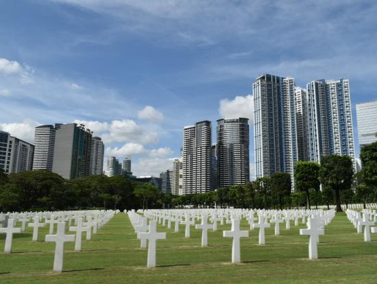 米国記念墓地。とても素敵でした。また行きたい。