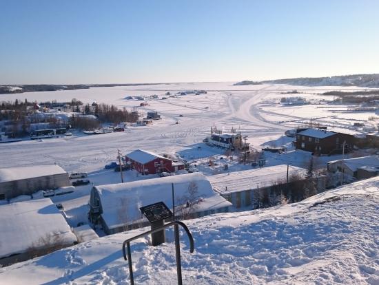 凍った湖!
