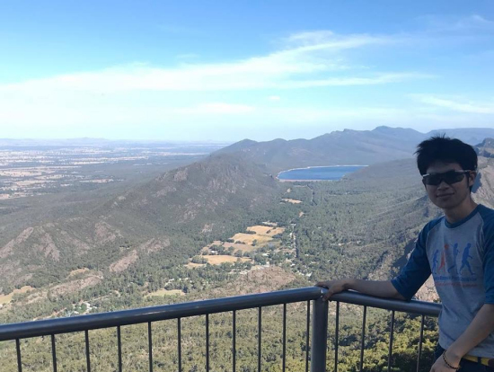 眺めがよくてシドニーのブルーマウンテンを思い出しました.