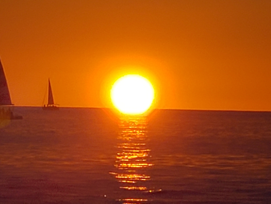 This is a sunset photo from the cruise.