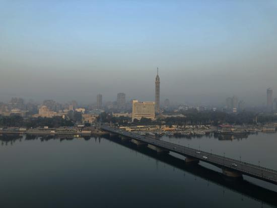 ホテルよりナイル川を望む