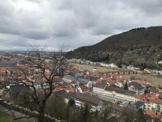 ハイデルベルク城から眺めた街並み