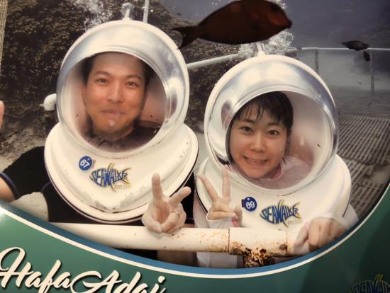 海底で記念写真!