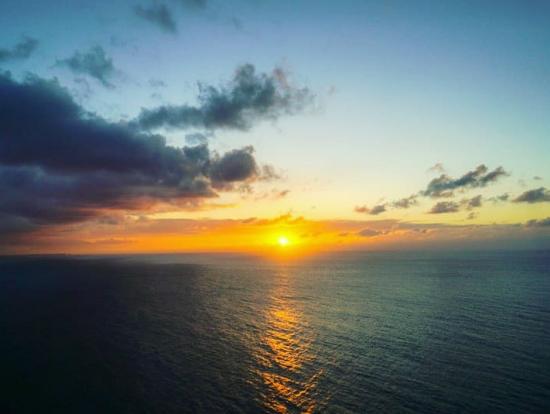 恋人岬からの夕日