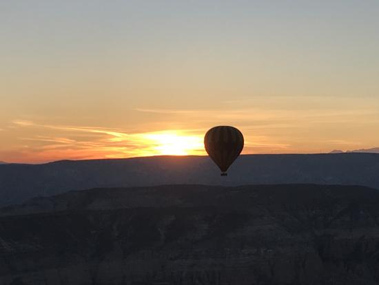 上空で朝日鑑賞