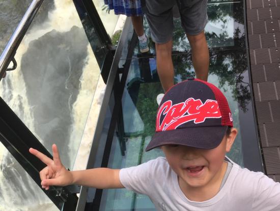 バロン滝の展望台 グラスフロア