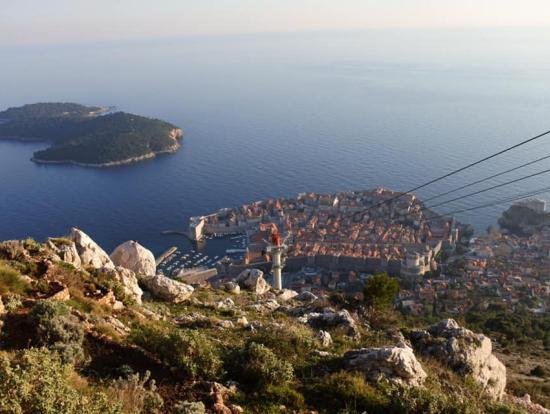 世界遺産ドブロクニクの眺めです。