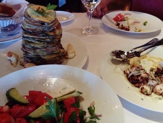 高級地中海料理、ナスとズッキーニのフライが美味しかったです