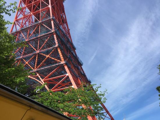 車内から東京タワー