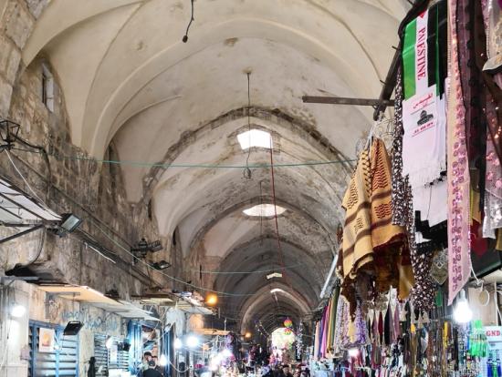 旧市街のアラブ人地区