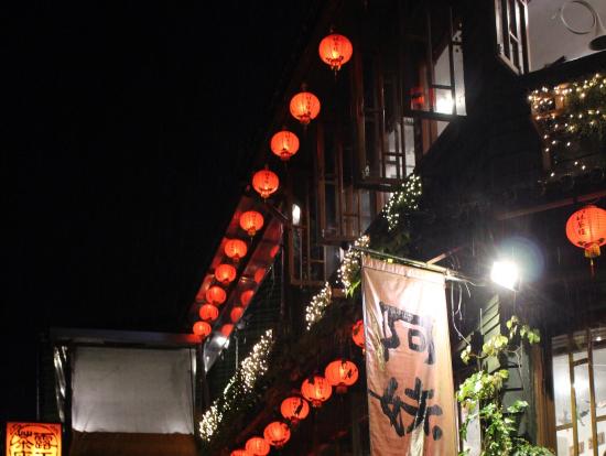 階段からの提灯