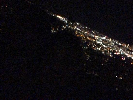街のライトが綺麗でした