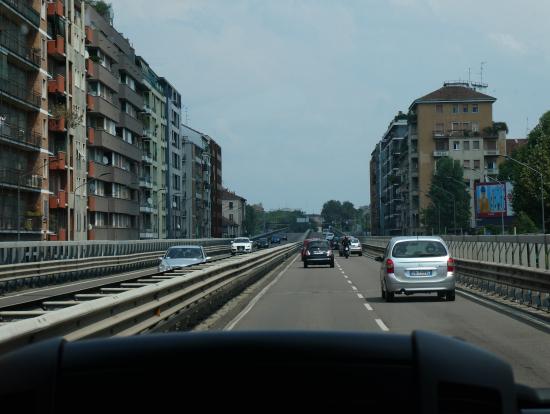車内から見た風景