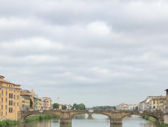 ヴェッキオ橋の上からの撮影です