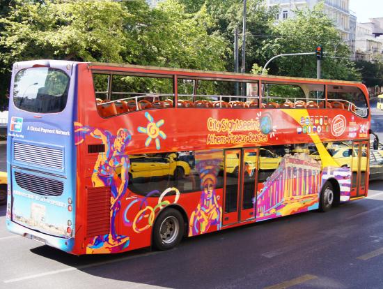 これは完全オープンではないが同様バスが沢山走っている。