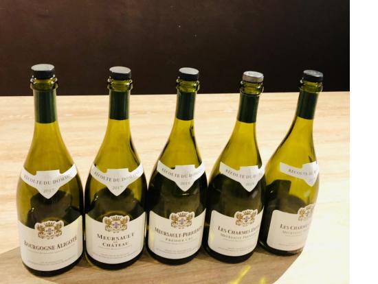 真ん中のワインがムルソー・ペリエール・プルミエクリュ2015
