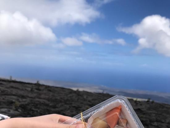 溶岩の上で食べた美味しいお弁当(*^^*)