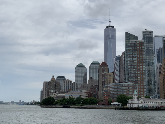 船から見たマンハッタン