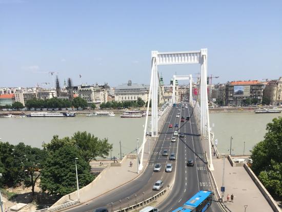 エリザベート橋を見下ろす