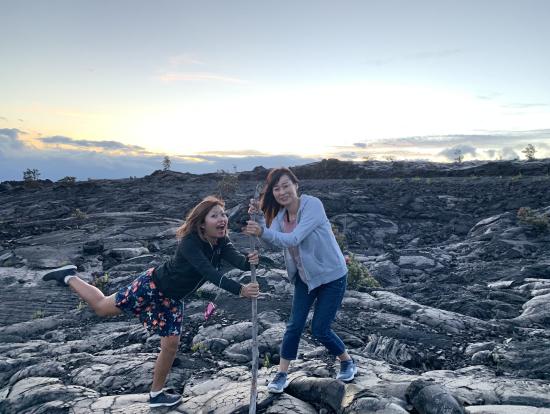 溶岩とペレと私たち。