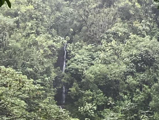 """ハワイ語で""""滴る水""""の滝"""