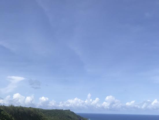 青い空とマリアナ海溝