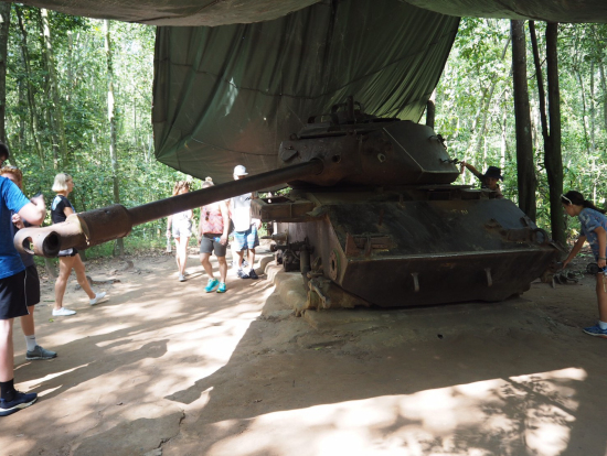実際に登ってみた戦車!時間があったら中も入りたかった!