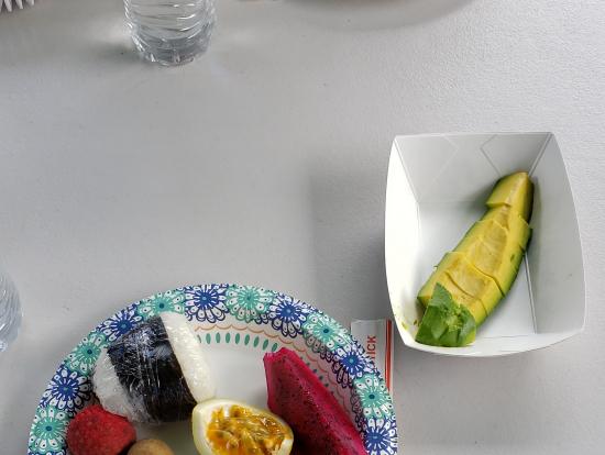 散策後のフルーツ試食1