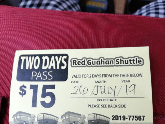 チケットの日付は手書きです。