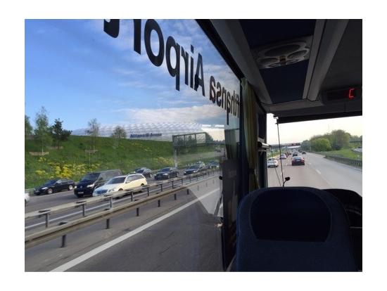 帰り道、FCバイエルンミュンヘンの本拠地アリアンツアレナも見れました!